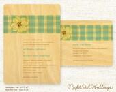 Real Birch Wood Wedding Cards - Plaid Dogwood