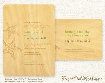Real Birch Wood Wedding Suite - Starfish