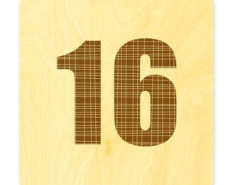 Real Wood Wedding Table Number Cards 1-20
