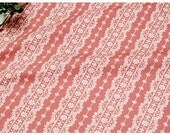 Lovely Lacey Print Pink / Japanese Fabric - 110cm x 50cm