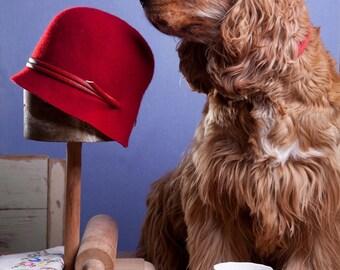 Classic cloche hat for women, Felt hat ,Women cloche hat