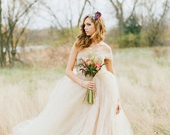 """The """"Marie""""  Dress - Whimsical Tulle Wedding Ballgown"""