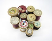 Antique french wooden thread,french bobbins