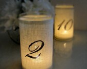 Special order for Jenna: Linen-Lined Candle Table Numbers