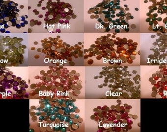 100 6mm Flatback Rhinestones-You Choose Color