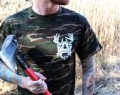 SCULLCREST t-shirt on camo size L