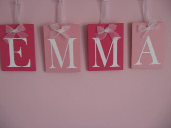 items similar to personalized wall letters custom name monogram for emma set includes letters