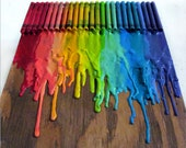 melted crayon rainbow.