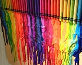 melted crayons: double rainbow.