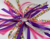 Ribbon Ponytail Streamer Handmade