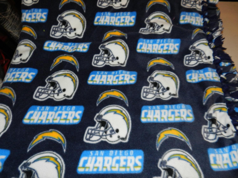 Nfl San Diego Chargers Fleece Tie Blanket