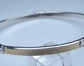 Bracelet, Pure 24K Solid Gold motif, 4mmx2mm, Satin finish, high shine edging, K5circlelarge