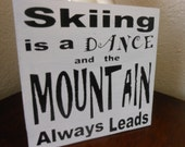 """12"""" x 12"""" All wood hand made Fun Ski sign - By Signart04 :)"""