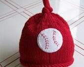Knit Baby Baseball Hat- Ballgame Beanie