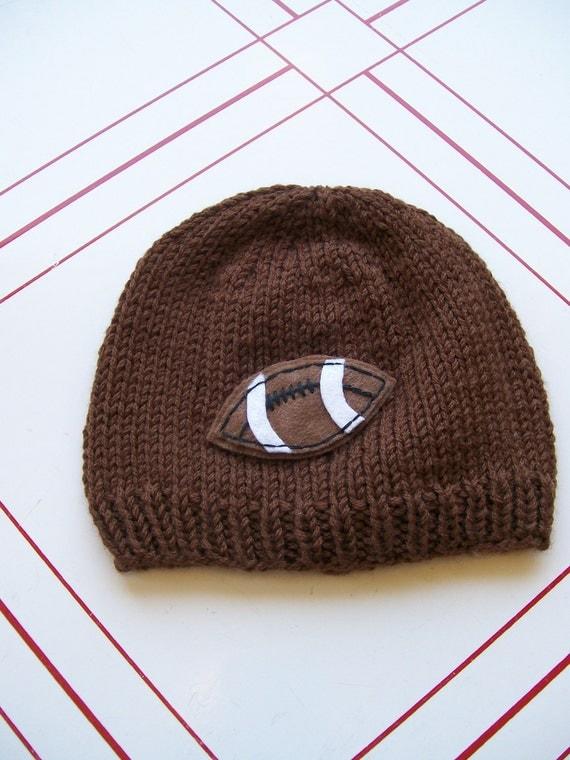 Baby knit football hat- size newborn