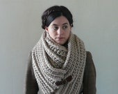 Infinity Cowl, Cowl Scarf, Cowl - The Seamans Knot in Linen