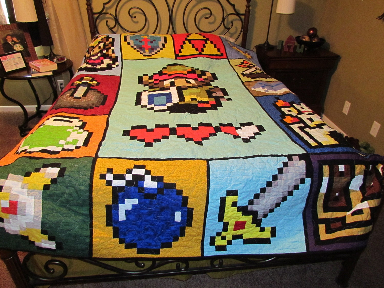 Zelda Video Game 72 X 90 Quilt