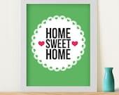 """CUSTOM Listing for Samichou Original Art Print """"Home Sweet Home"""""""