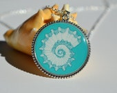 Shell Design Charm Necklace
