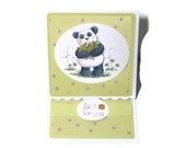 Panda Easel Card, Yellow