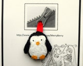 Penguin  Zip Tag, Zipper Tag, Zipper Charm