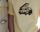 Mens T shirt - VOLKSWAGEN BUS - Hand Painted Made to Order