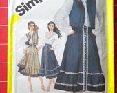 Gunne Sax Size 8 Blouse Skirt and Quilted Vest Pattern