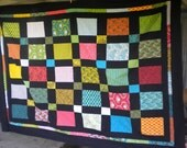 RESERVED for Olivia and Mark Geometric Queen Sized Unfinished Quilt Top