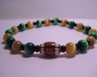 Green Bay Packer Mens Stretchy Bracelet