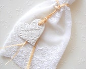 Wedding Favor Bags,Rustic Favor bags,Lace Favor Bags,Gift bag,Baby favor Bag