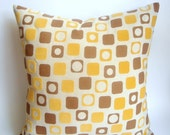 Geometric Yellow Pillow cover 20/20 Ready to be shipped