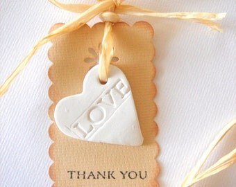 Favor Thank you, Rustic Favor Tag, Wedding Ceramic Tags, Baby Shower Favor, Shower Favor,