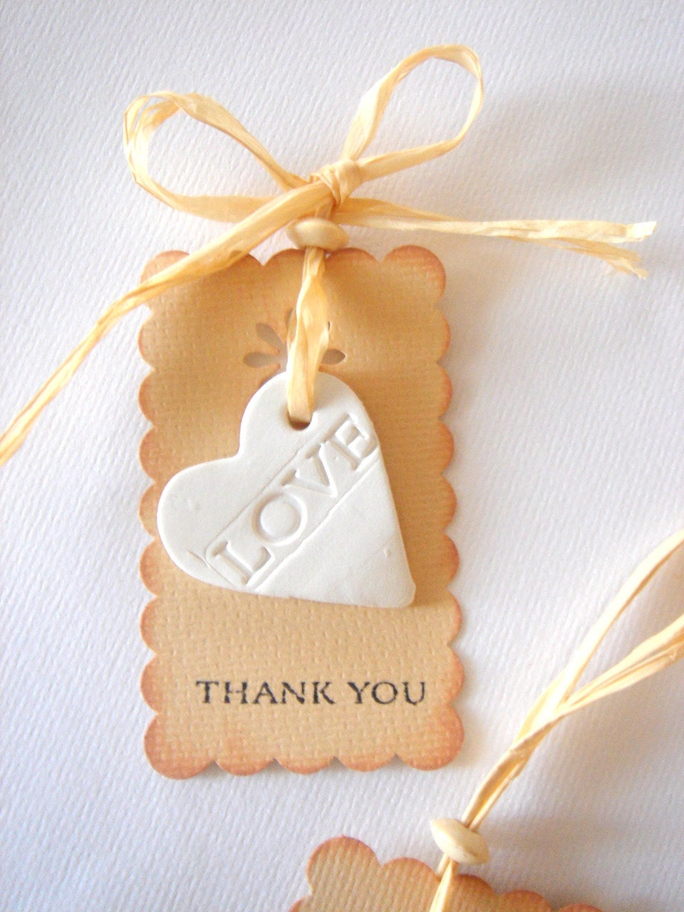 Thank You Wedding Gift Tags : Favor Thank you Rustic Favor Tag Wedding Ceramic Tags Baby