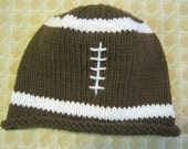 Hand Knitted Football Hat