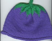 Hand Knitted Grape Hat