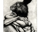 "Intaglio Etching with aquatint ""The Hare"""