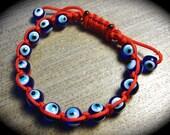 YogiBead Evil Eye Macrame Bracelet- 5 different colors