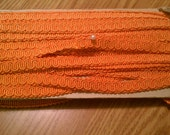 "5.2 yards Vintage .5"" wide Orange Serpentine Trim Edging Embellishment"