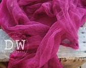 Wine Pink Hand Dyed Cheese cloth Newborn Wrap Photography Prop