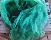 Kelly Green Hand Dyed Cheese cloth Newborn Wrap Photography Prop