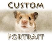 Custom pet portrait Vintage geisha photo Digital altered romantic animal image Sepia color ephemera Download Printable A4 Postcard /cv028