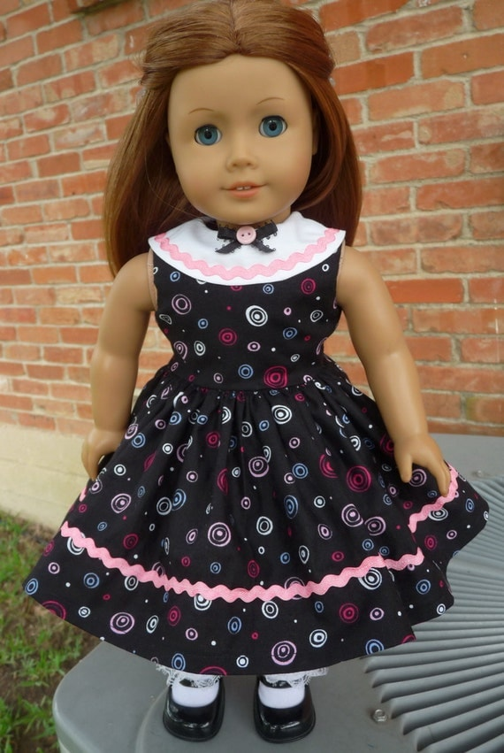 """18"""" Doll Clothes 1940's--1950's Style Sleeveless Party Dress Fits American Girl Molly, Emily, Kit"""