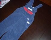 Izod Lacoste Denim Suspender Coverals Size 4T (toddler)