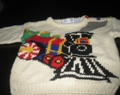 Toddlers Size 3 Long Sleeve Sweaters Awesome Train Eagles Eye