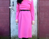 Vintage Leslie Fay Original Pink Dress S 1960's
