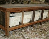 Rustic Reclaimed Entry Bench