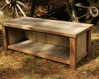Rustic Reclaimed Mudroom Entry Bench