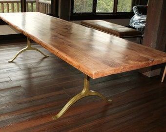 Modern Rustic Wishbone Dining Table