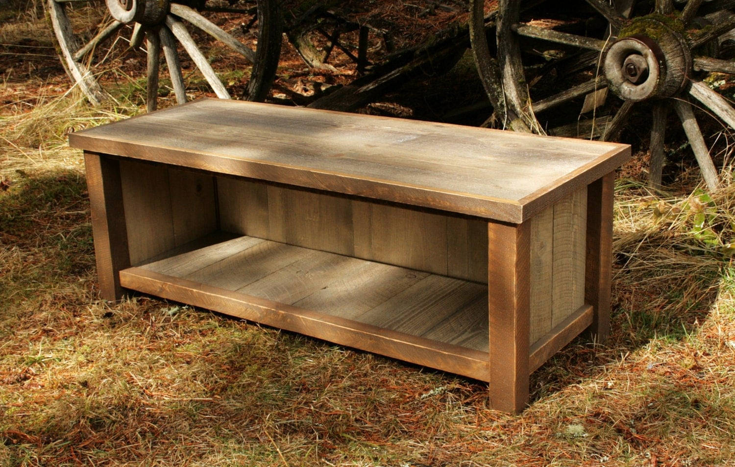 Rustic reclaimed mudroom entry bench by echopeakdesign on etsy Mud room benches
