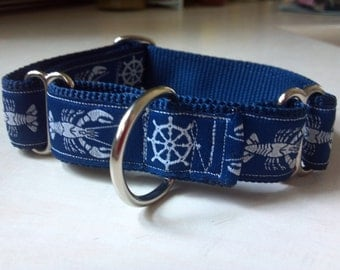 "The Nautical Lobstah 1"" Martingale Collar"